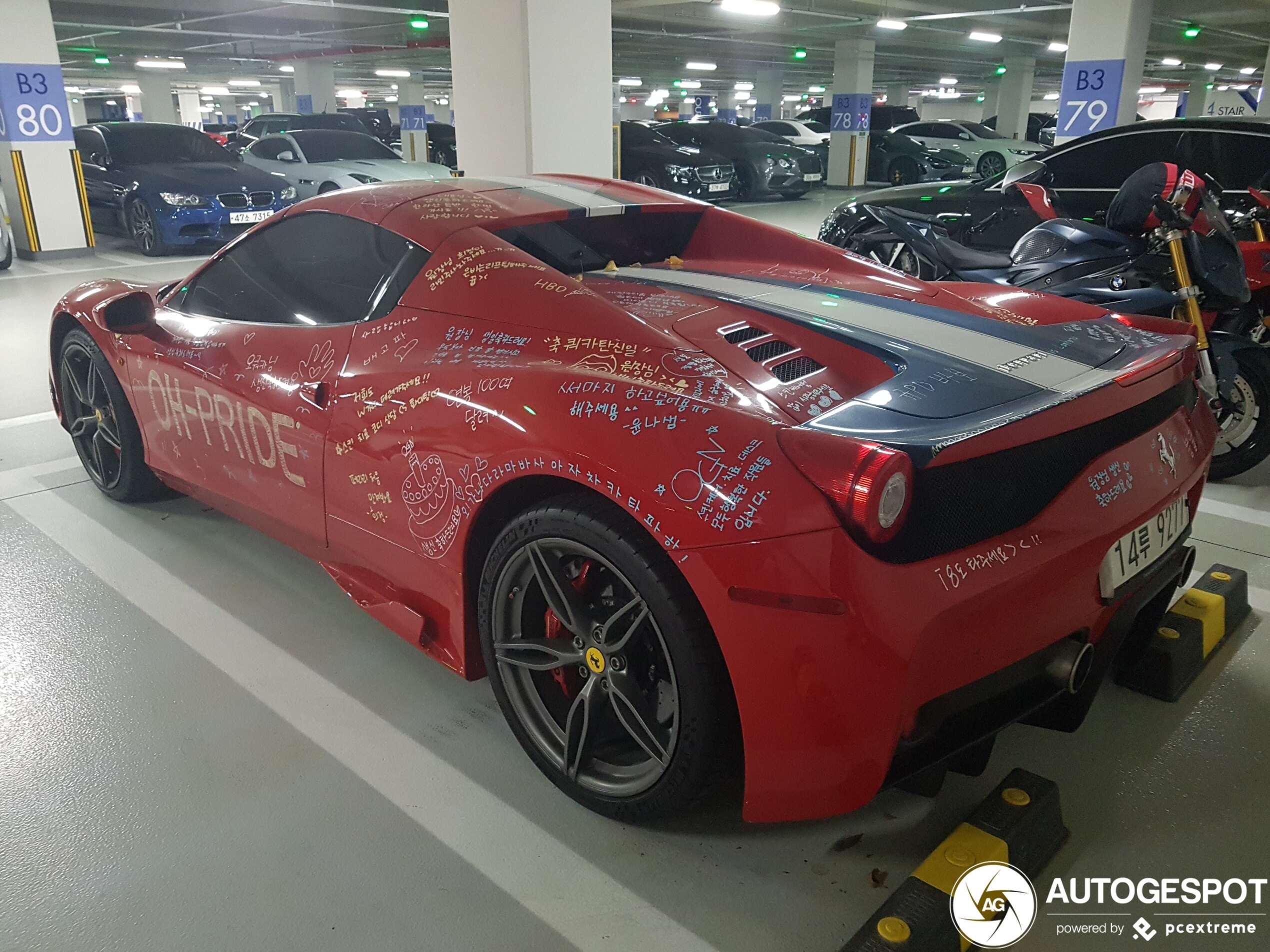 Ferrari 458 Speciale A is behoorlijk onder gekliederd