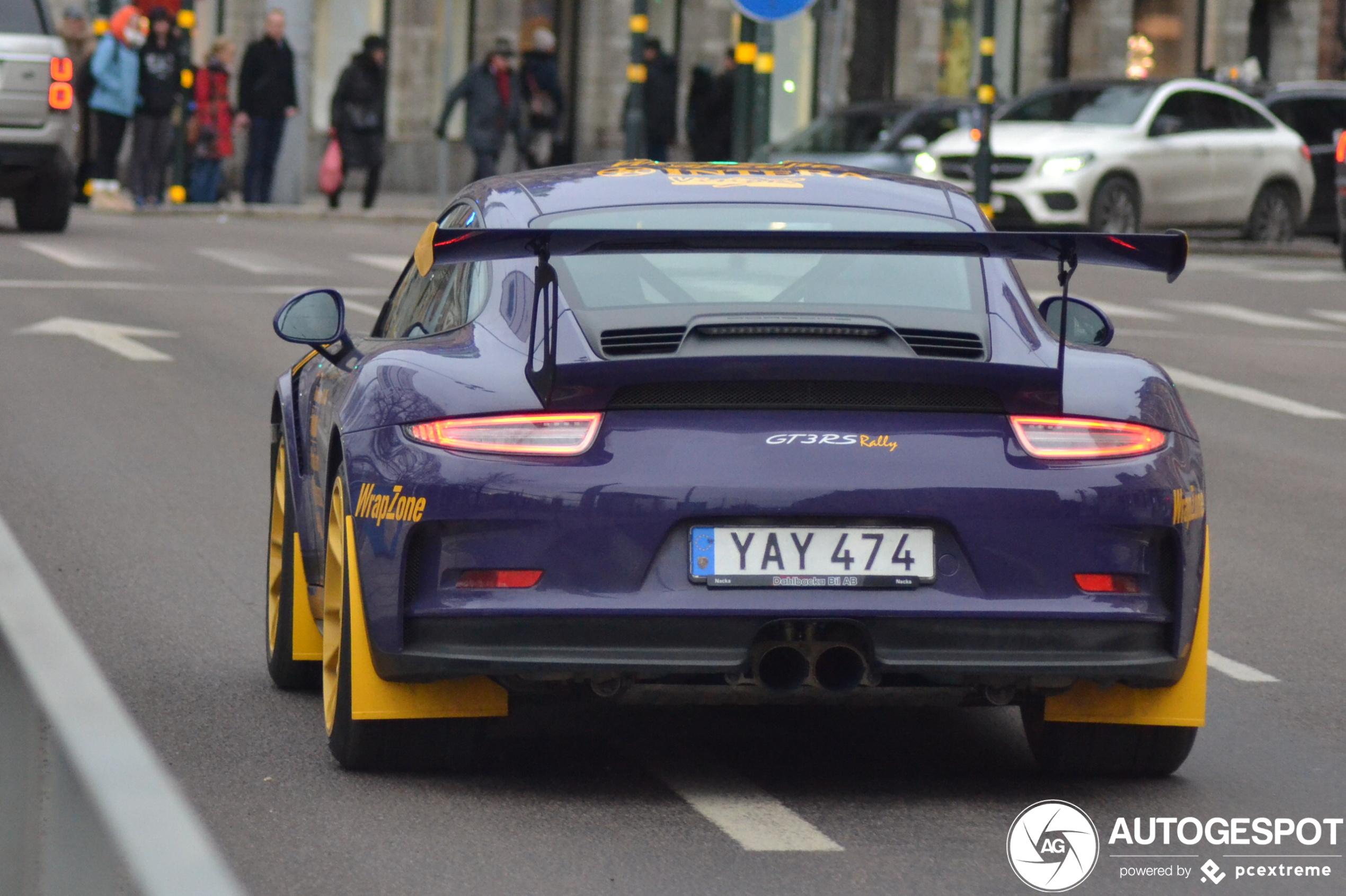 Porsche 991 GT3 RS is klaar voor het nieuwe WRC kampioenschap