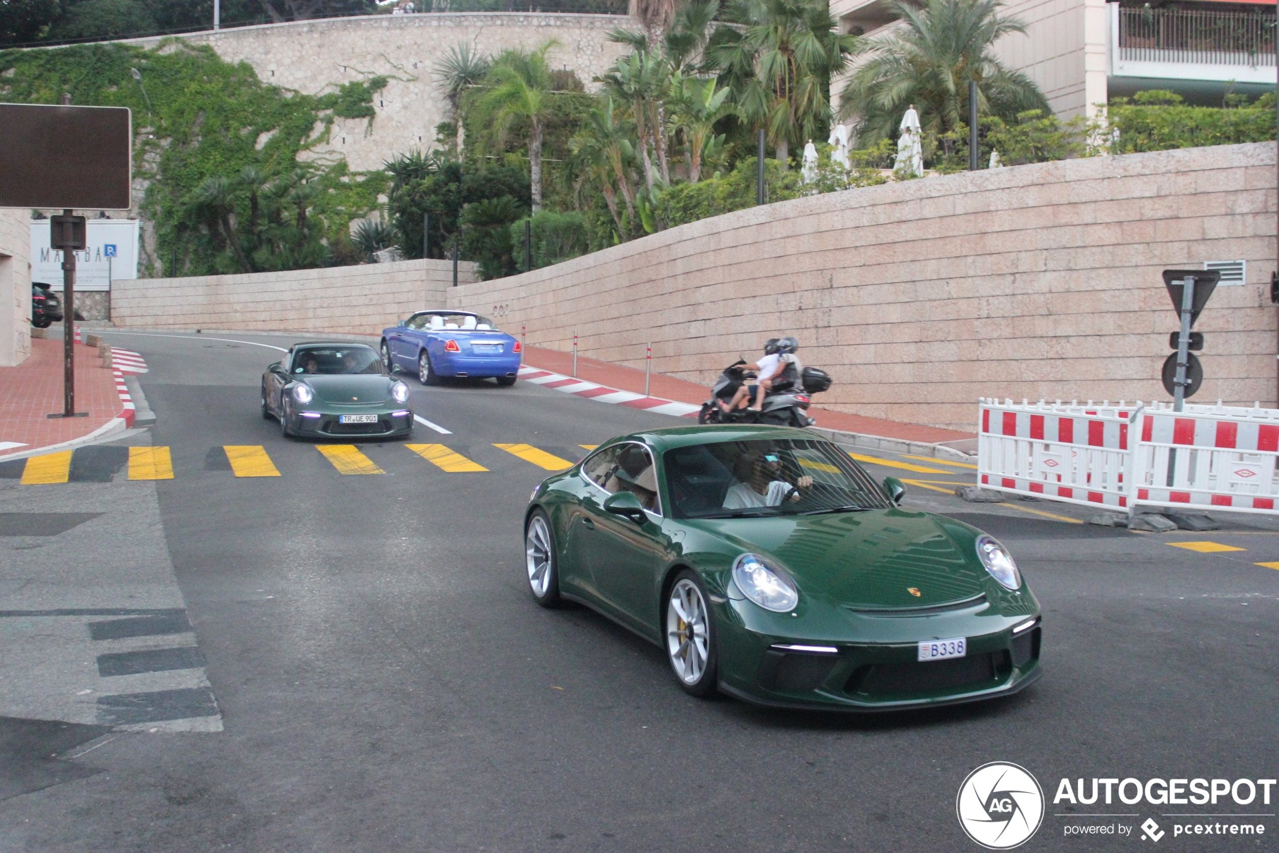 Irish Green Porsche duo ravot door Monaco