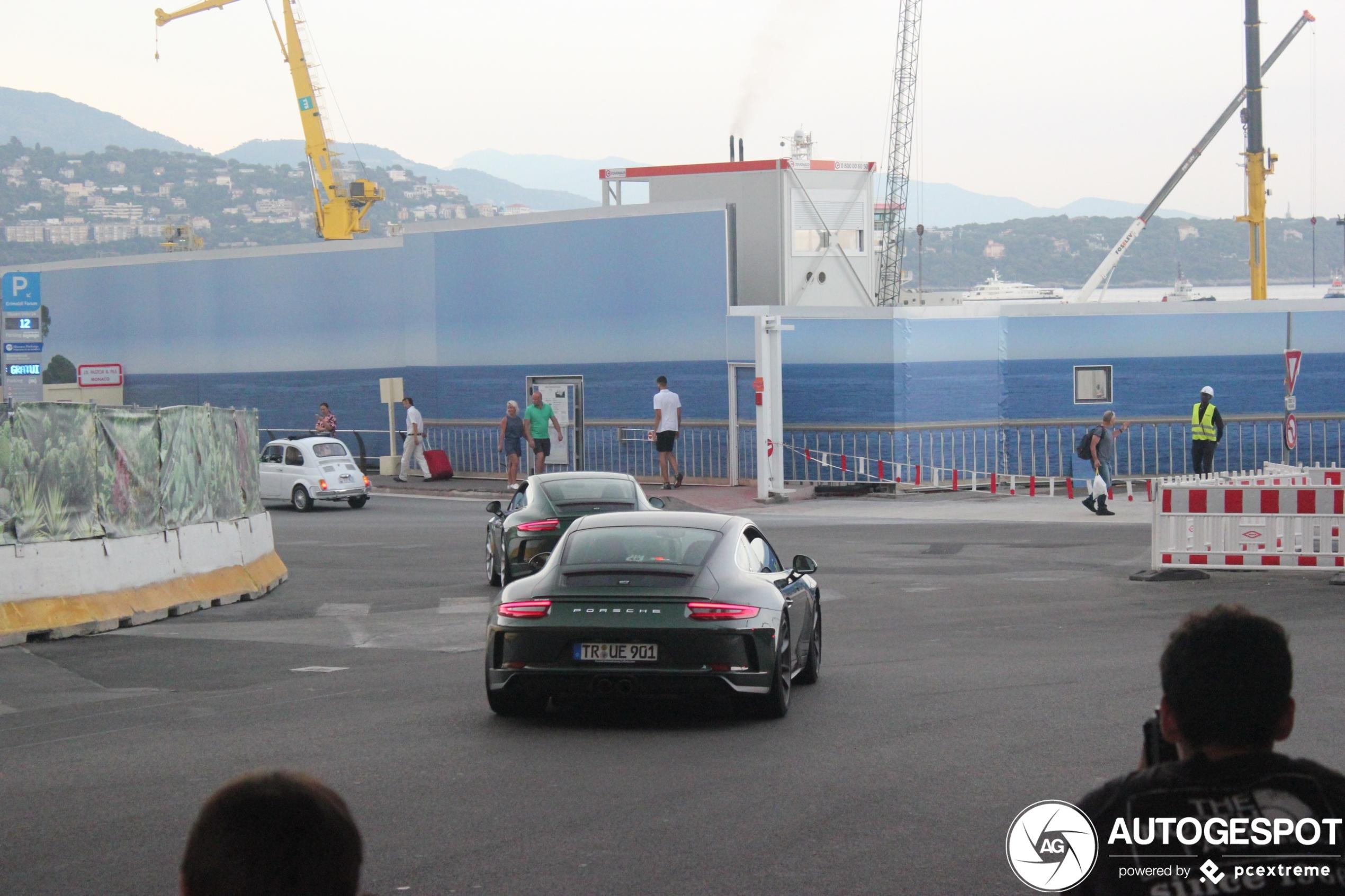 Irish Green Porsche duo ravot door Monaco