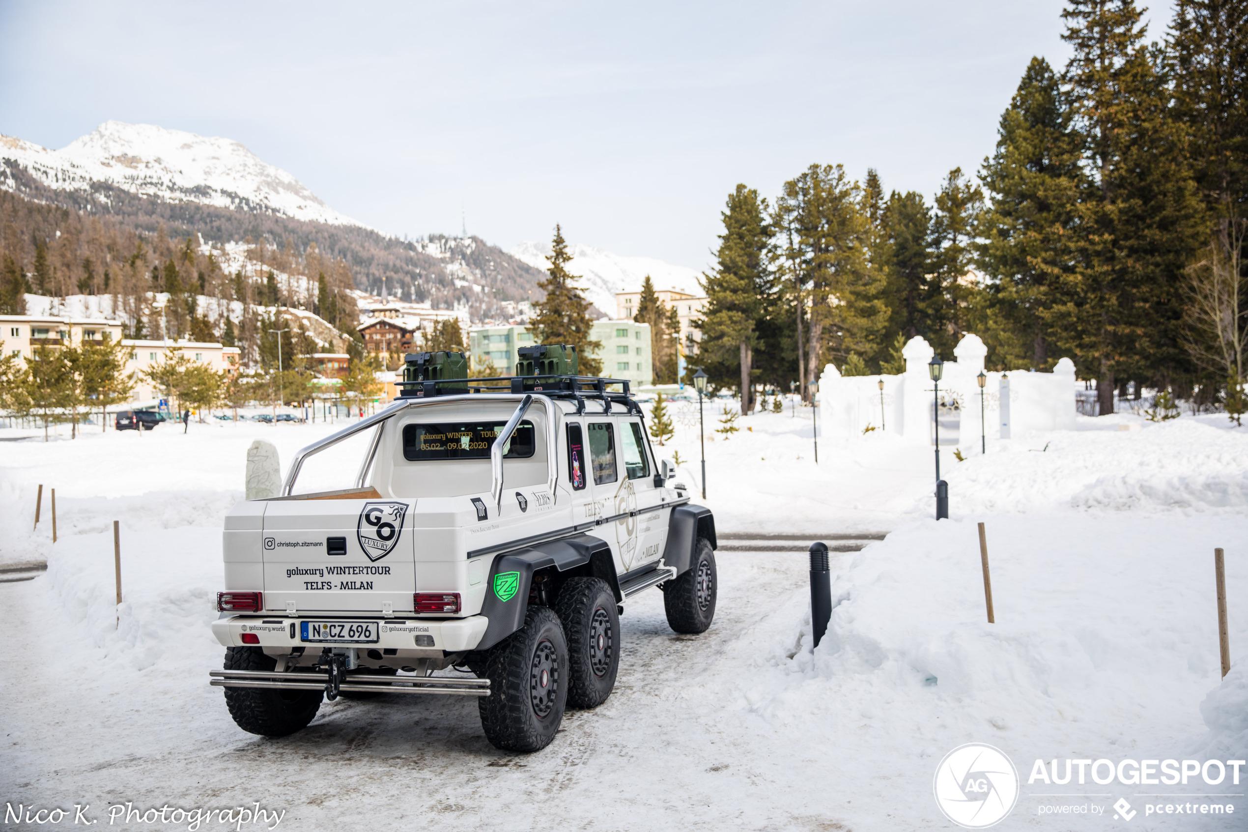 In de sneeuw geen zorgen met de Mercedes-Benz G 63 AMG 6x6