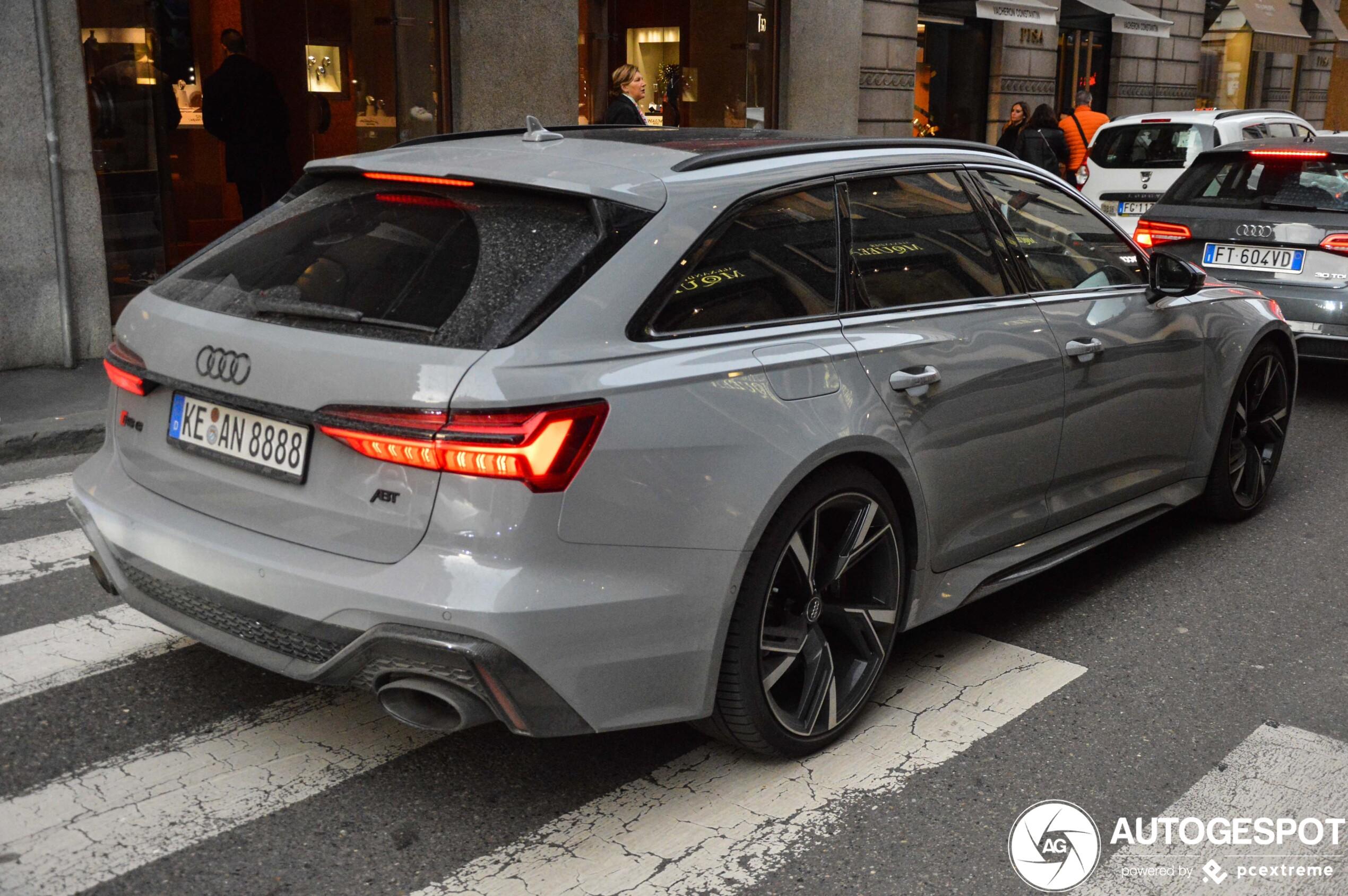 Eerste Audi RS6 Avant C8 met ABT power gespot
