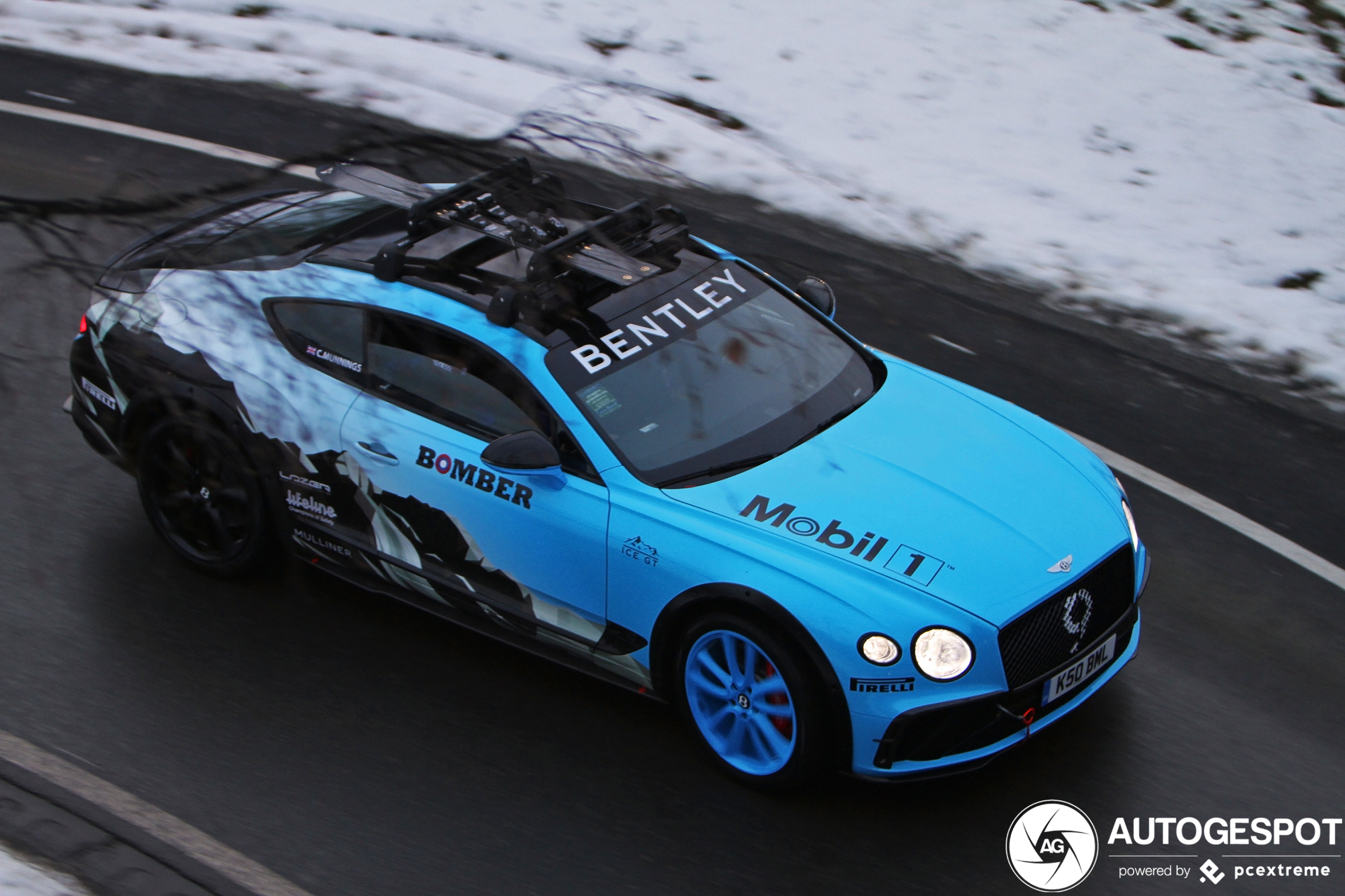 Gespot: Bentley Continental GT GP Ice in levende lijve