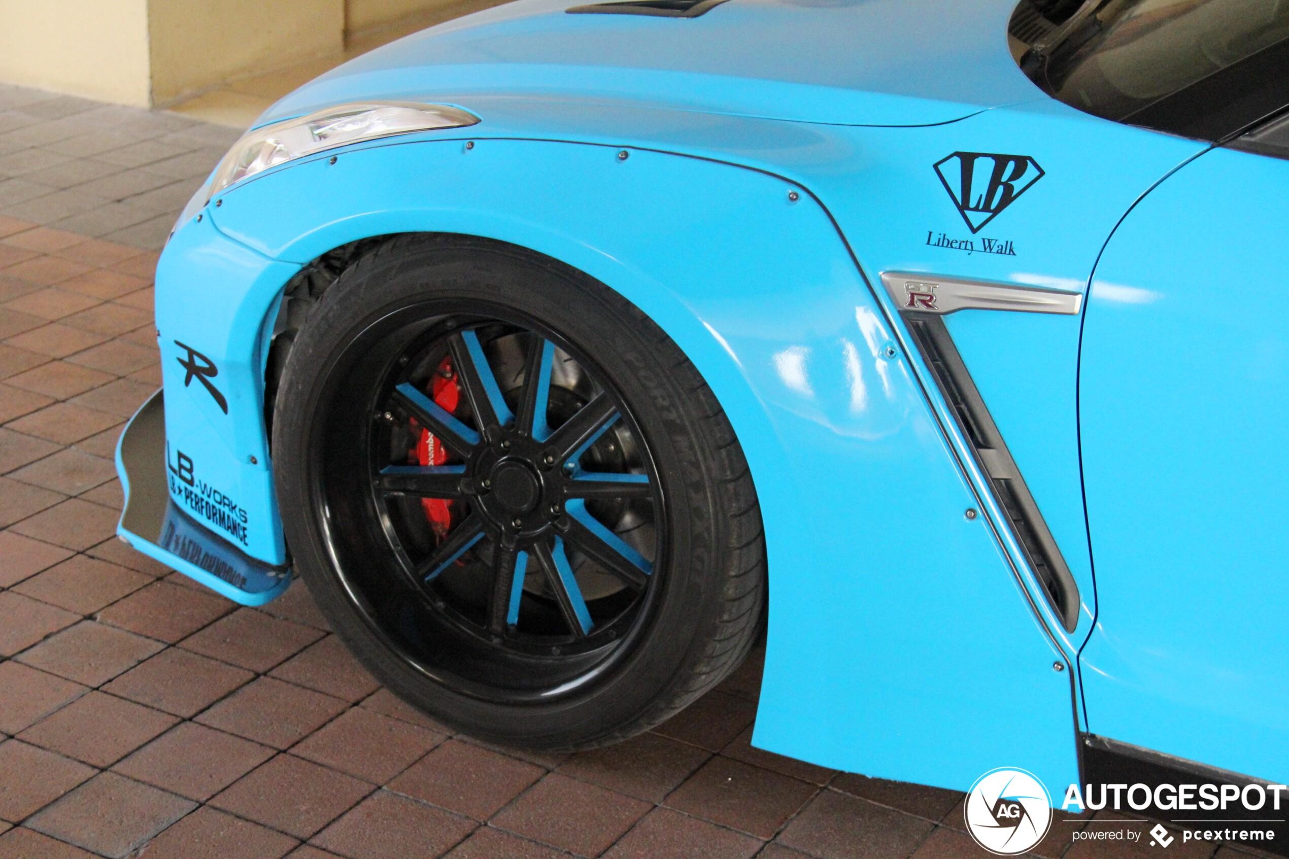 Tot in het extreme verbouwd: Nissan GT-R Liberty Walk