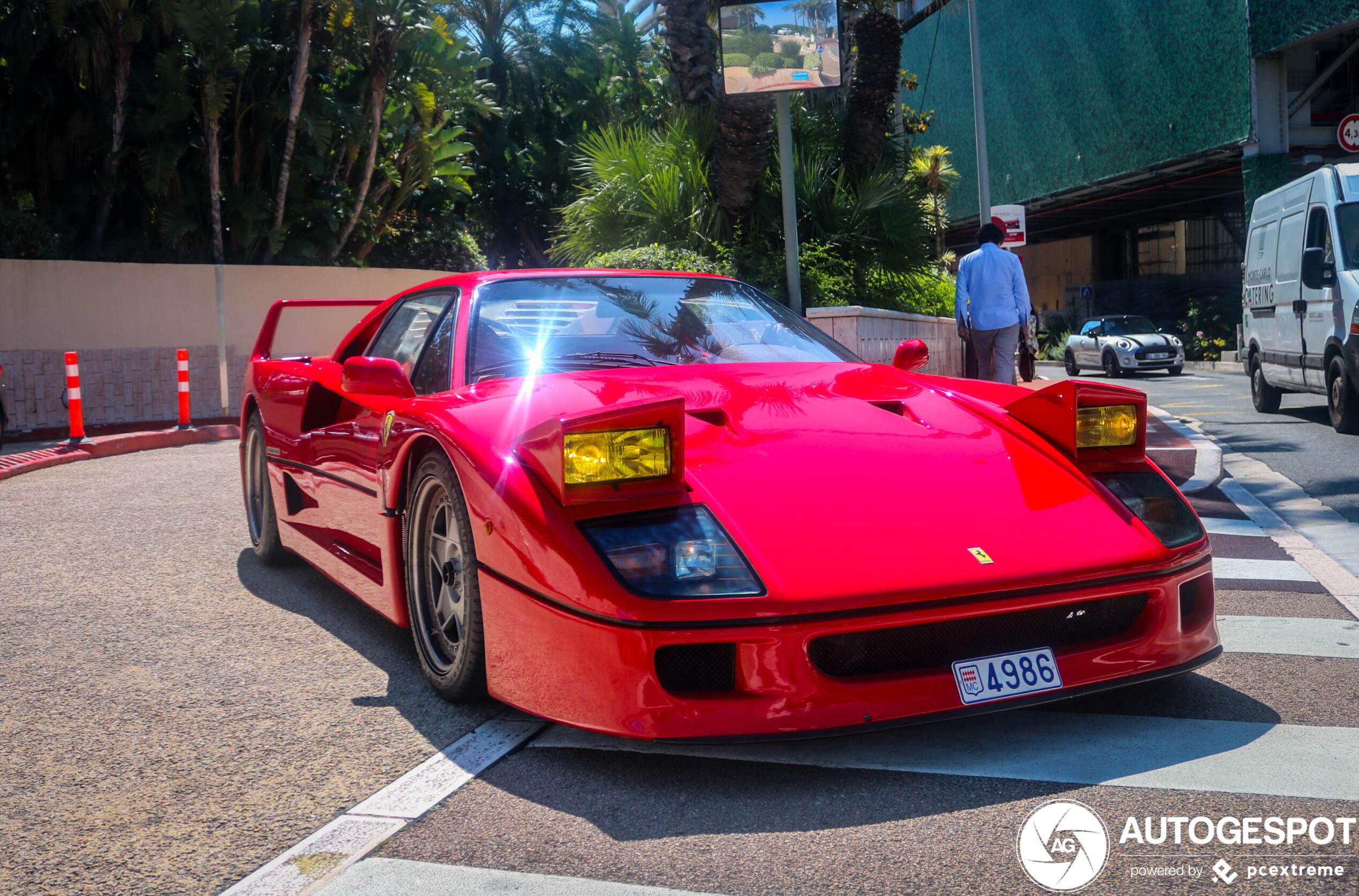 Rest in Peace: Ferrari F40 in Monaco