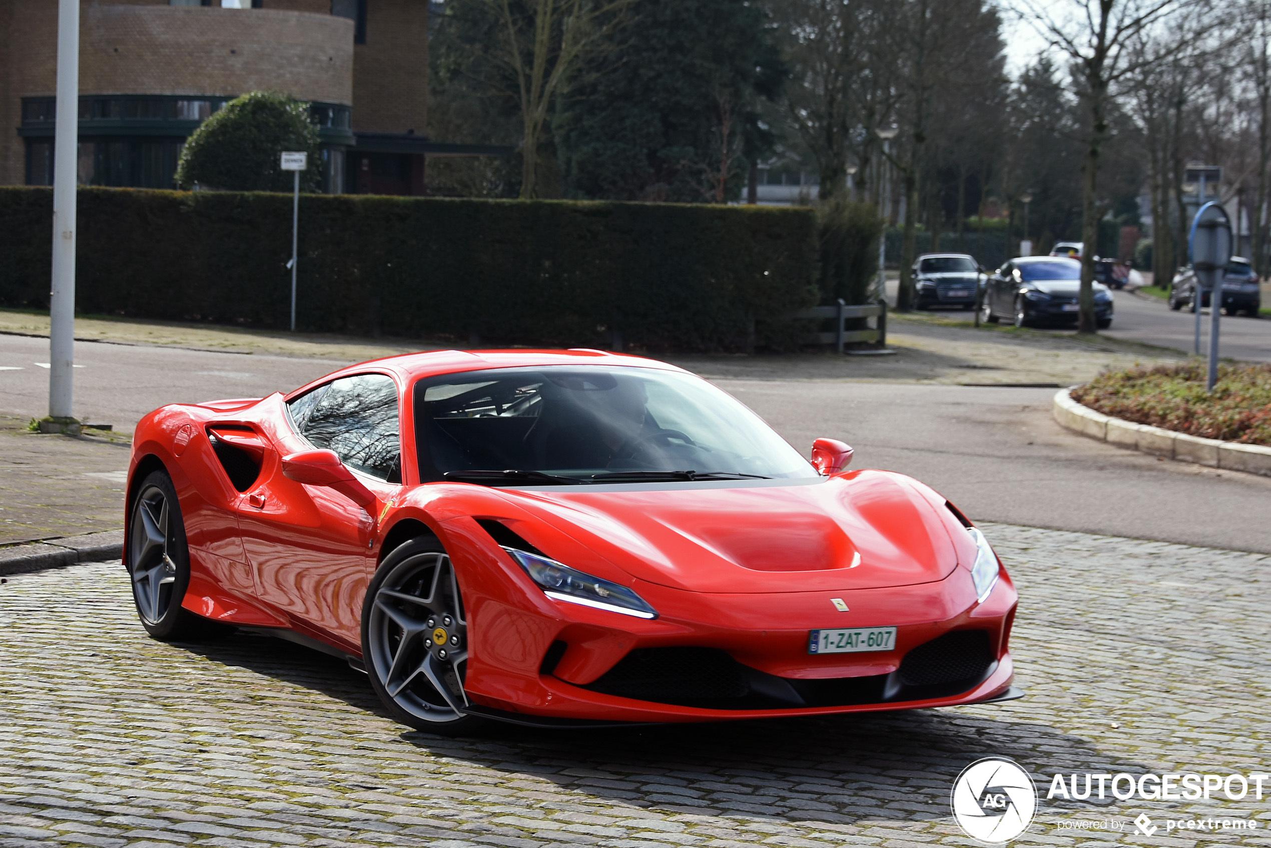 De eerste Ferrari F8 Tributo van België is gespot
