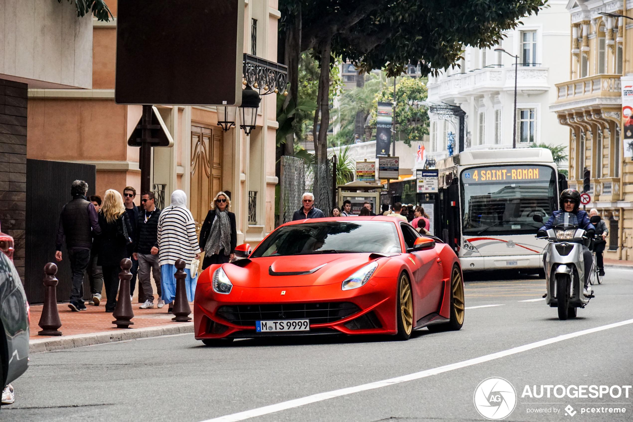 Ferrari Novitec Rosso F12 N-Largo past perfect in Monaco