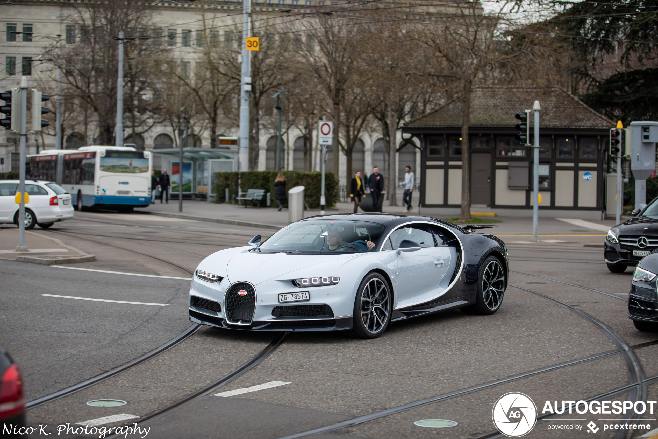 Spotted: Bugatti Chiron takes a stroll through Zurich.