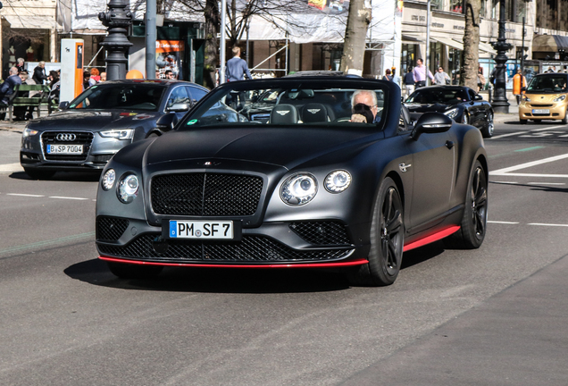 Bentley Continental GTC V8 S 2016 Black Edition