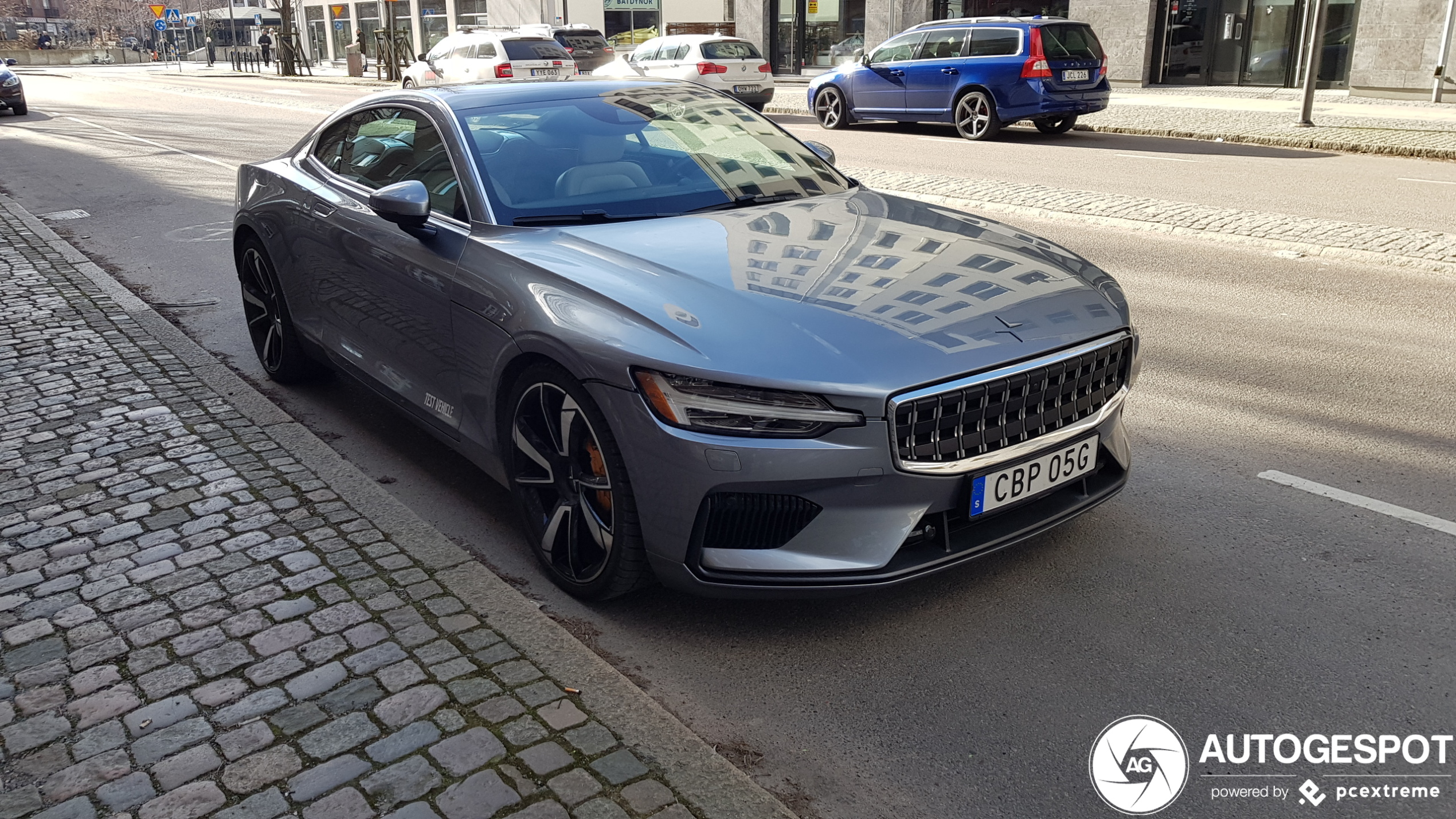 Polestar one starts to appear in the streets.
