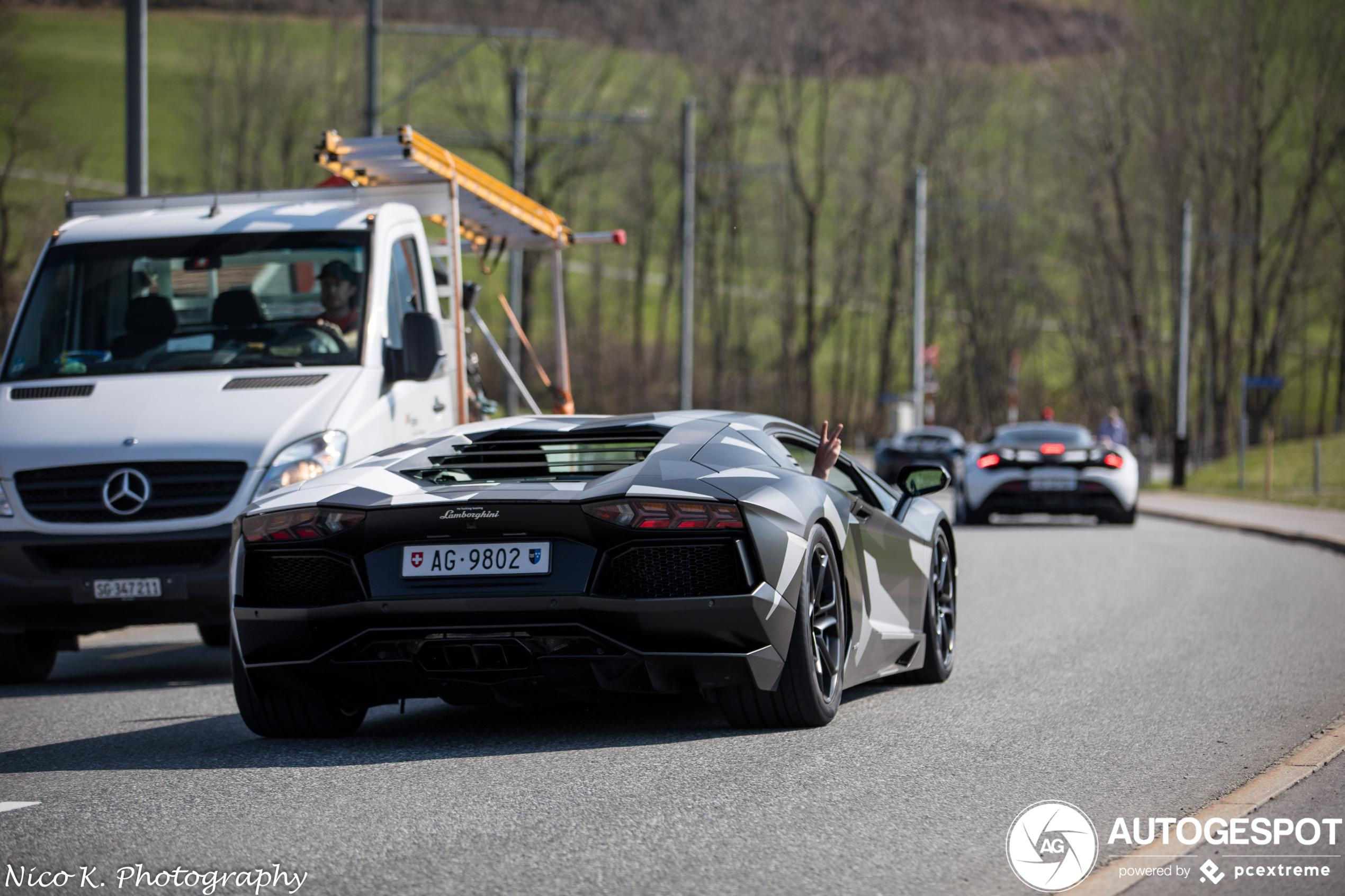 Lamborghini Aventador heeft een stoere wrap