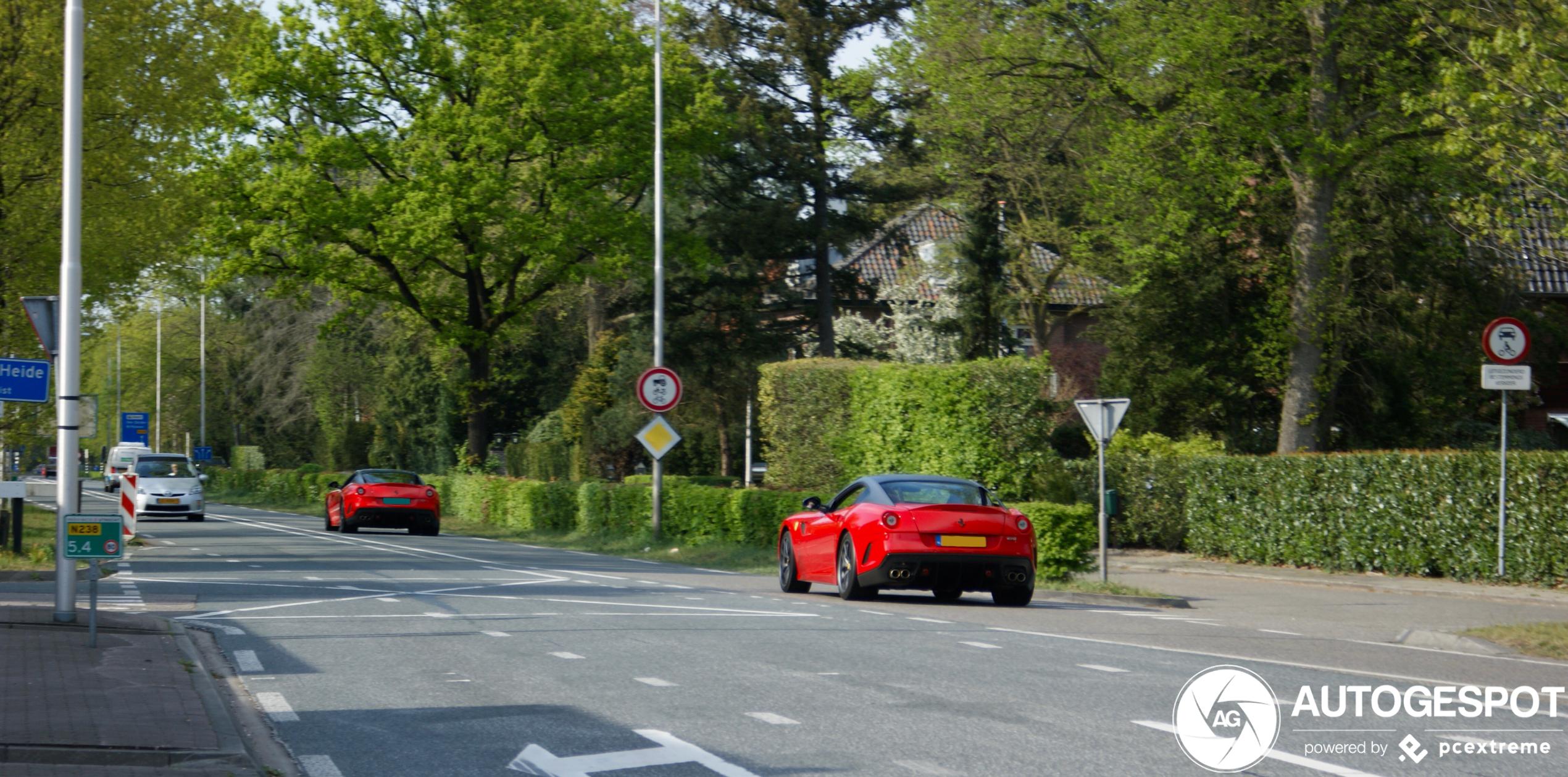 Combospot: dubbele Ferrari 599 GTO