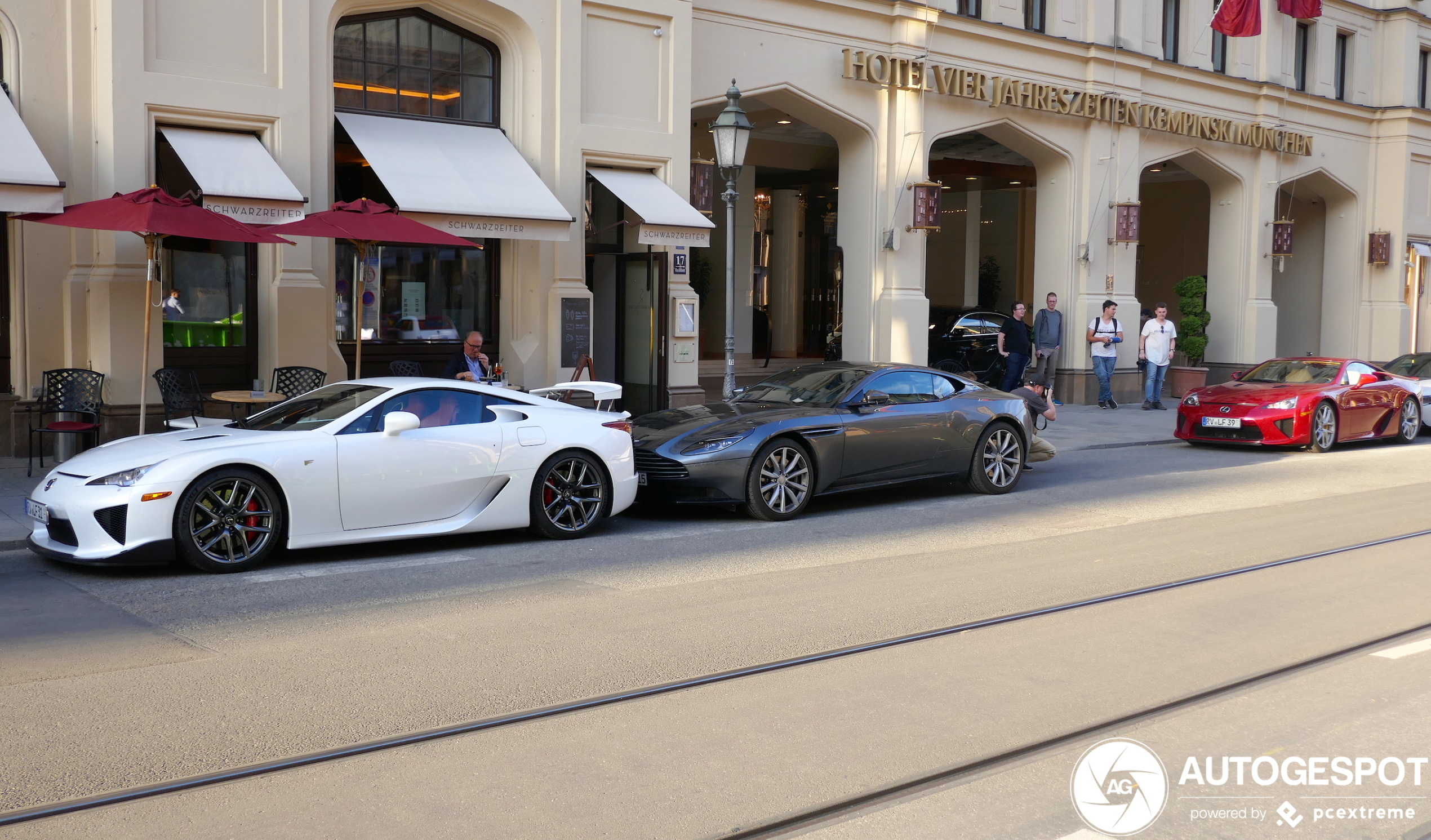 Two Lexus LFA's surface in München