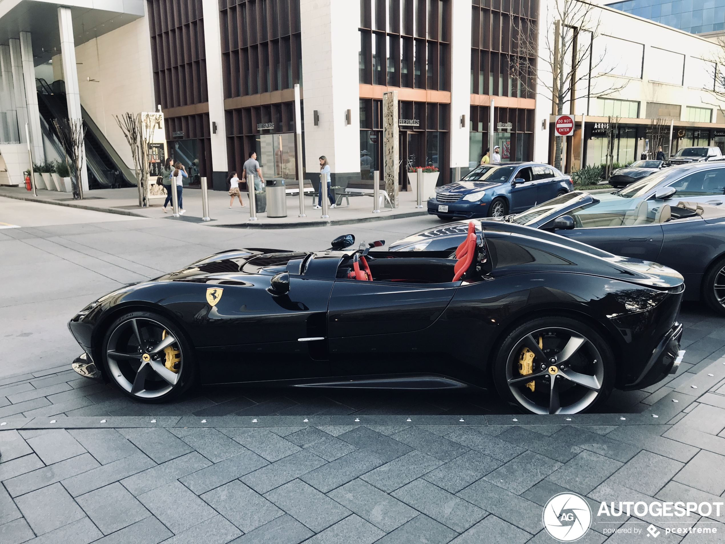 Ferrari Monza SP2 shows off in downtown Houston
