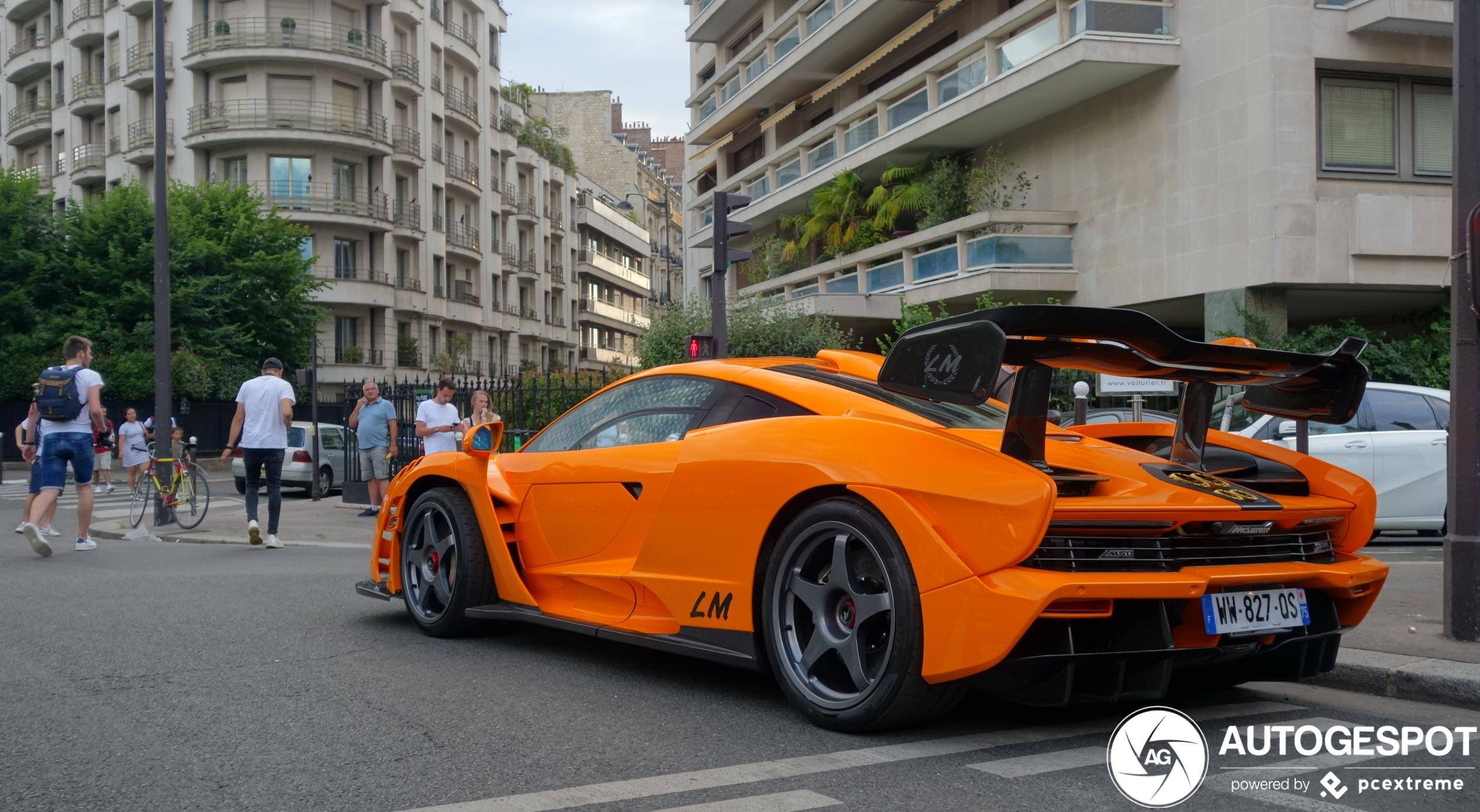 McLaren Senna LM zorgt voor kleur in Parijs