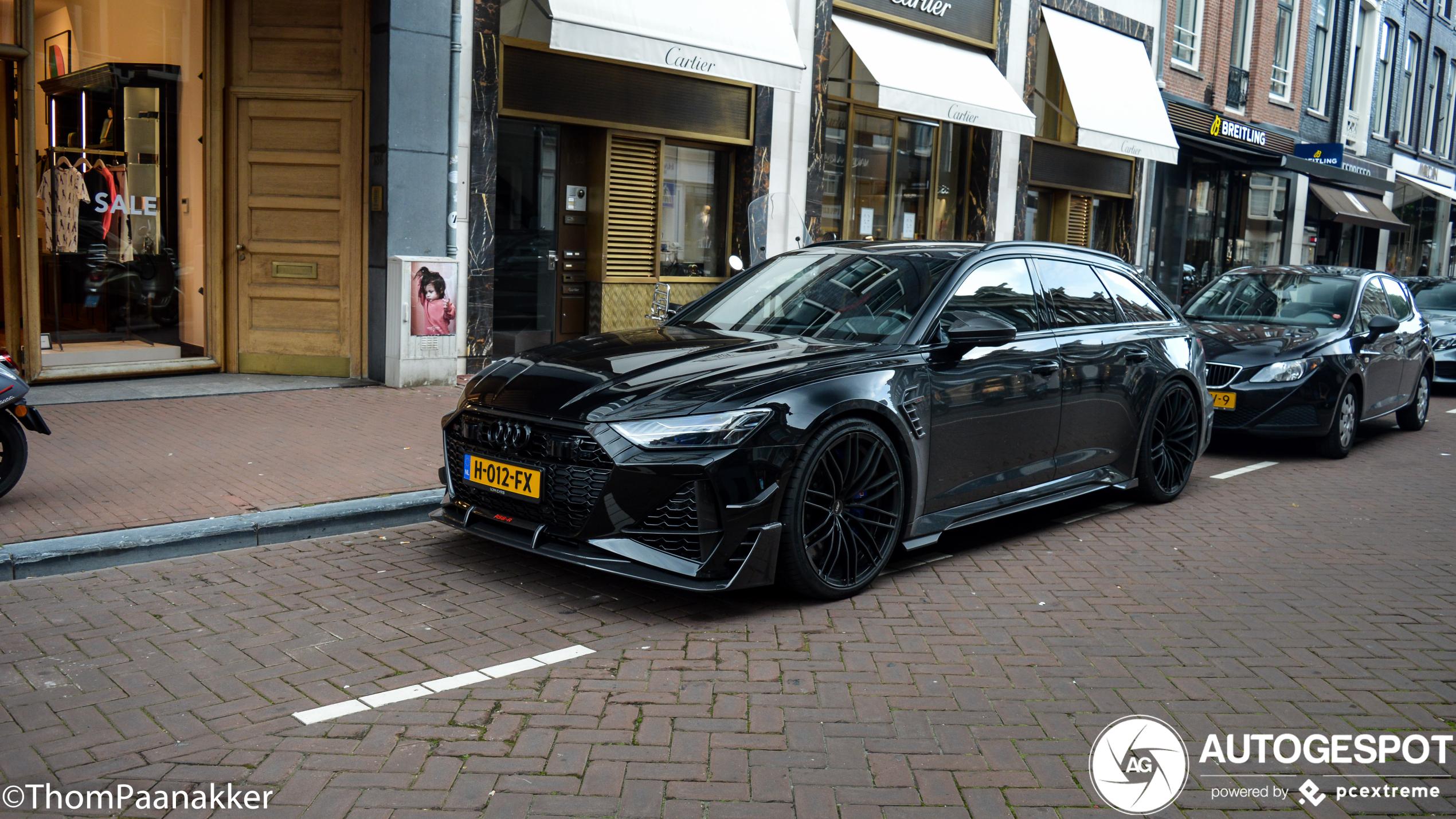Hakim Ziyech weet Amsterdam nog wel te vinden met zijn ABT RS6-R Avant