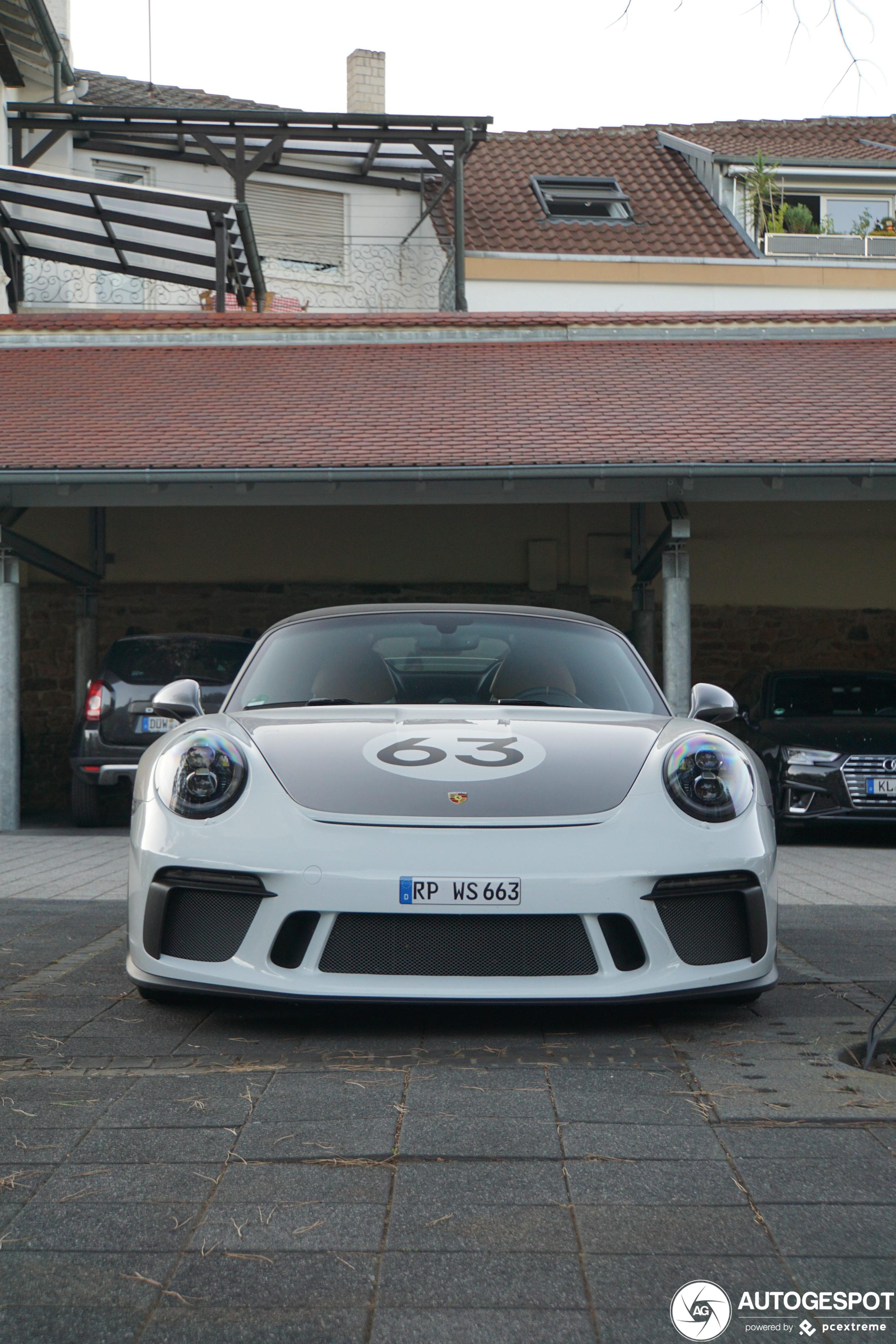Porsche 991 Speedster valt eigenlijk niet heel erg op