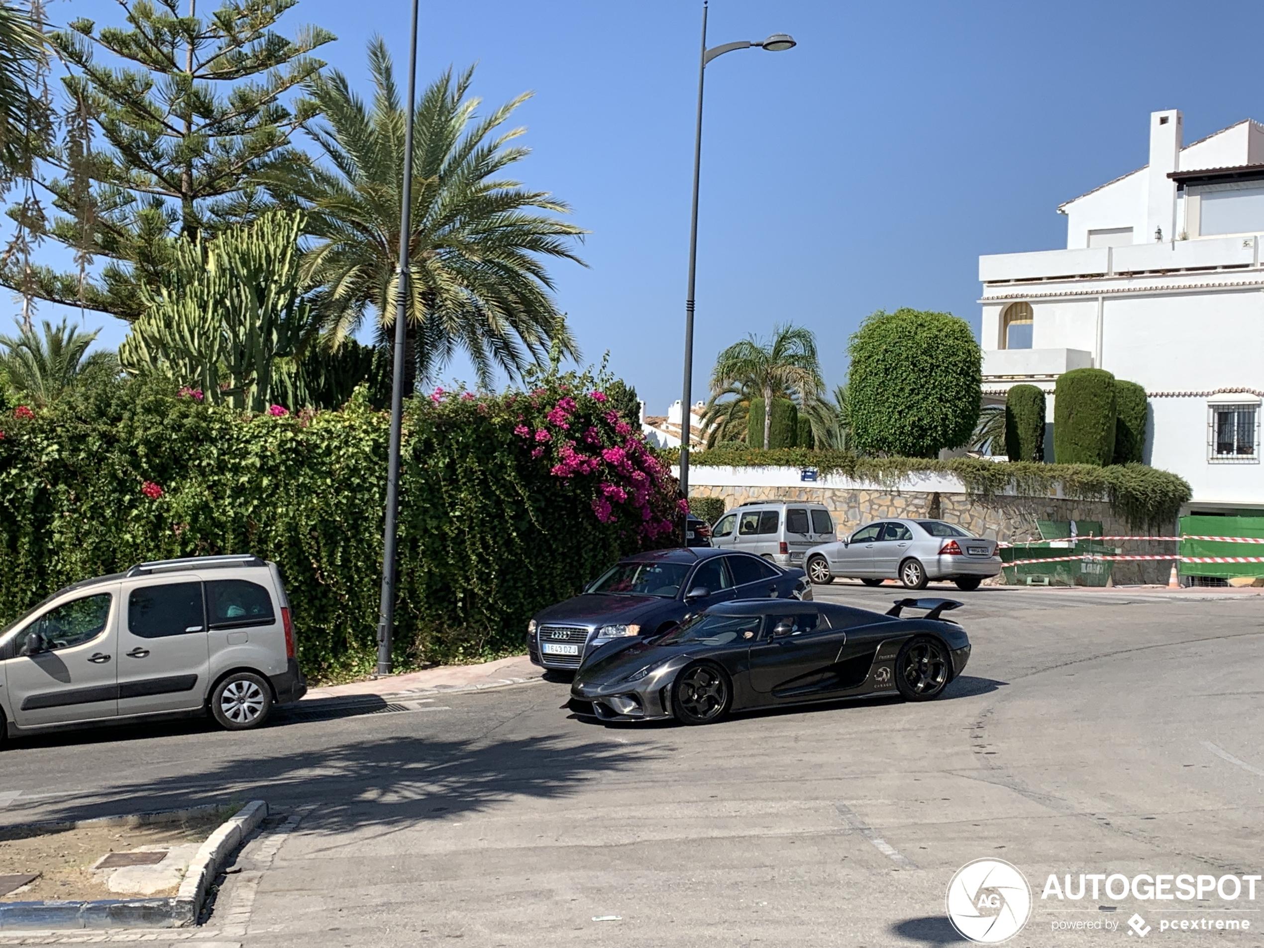 Koenigsegg Regera stuift voorbij in Marbella