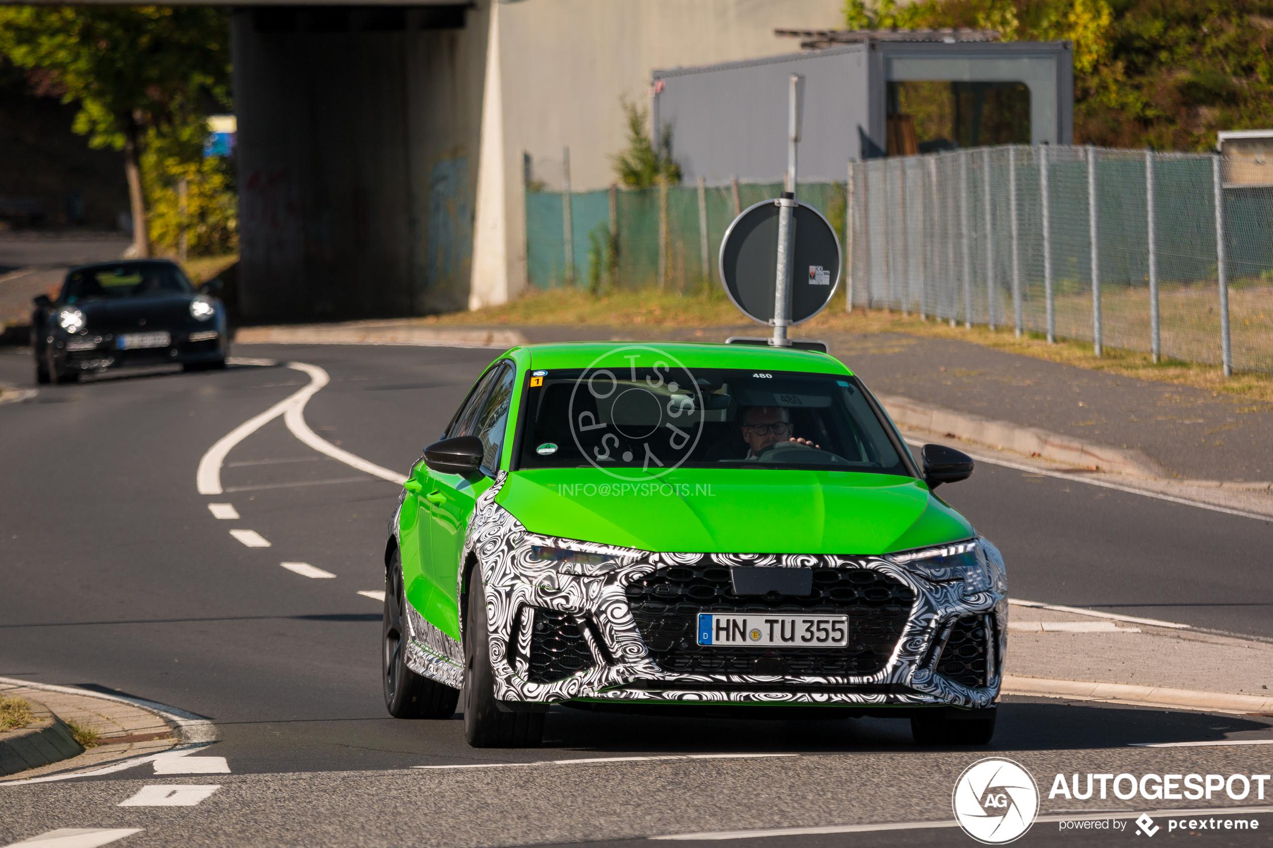 Spyshots: Audi RS3 Sedan heeft nu al lekker kleurtje