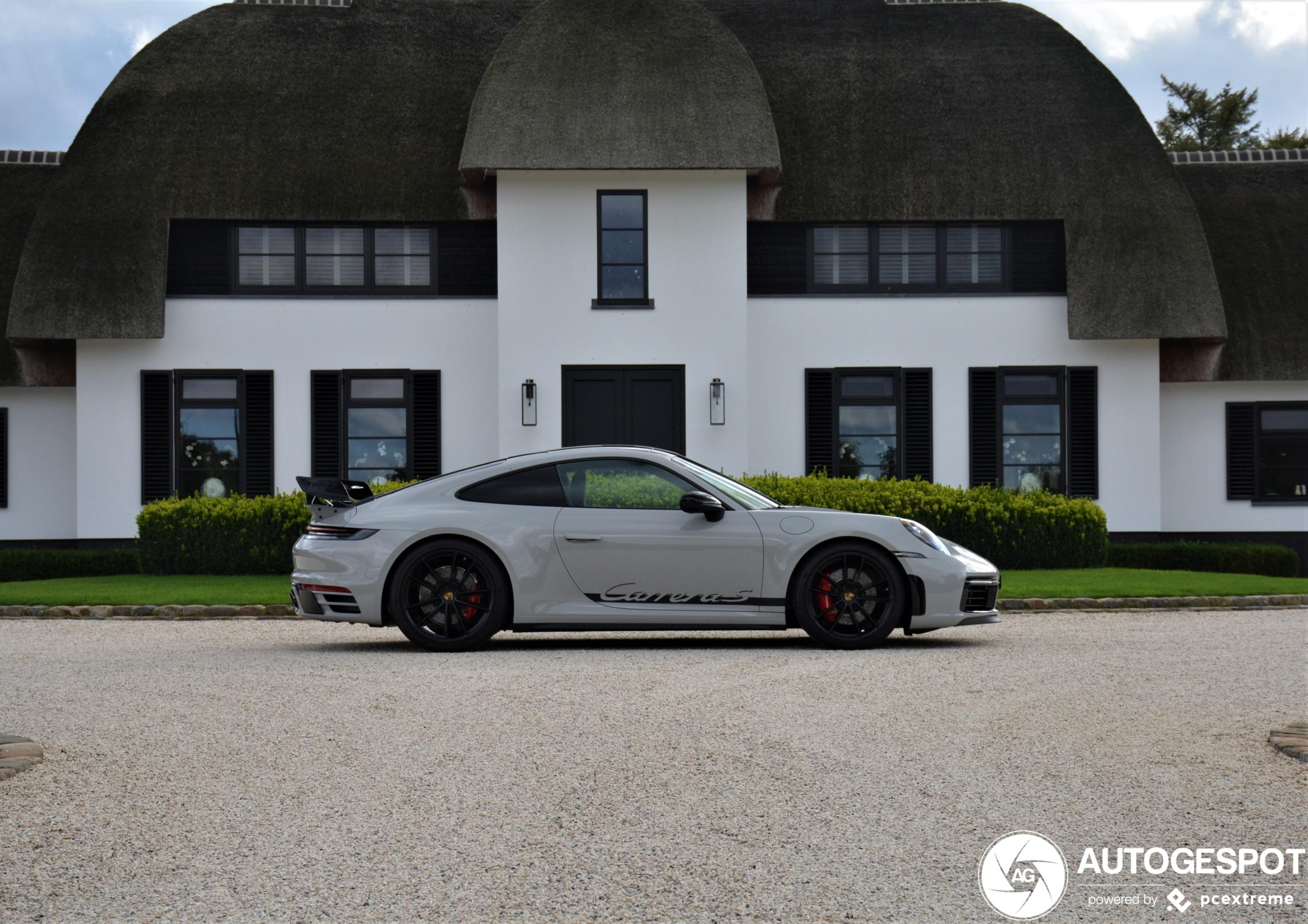 Porsche 992 Carrera S van Techart is lekker afgetraind