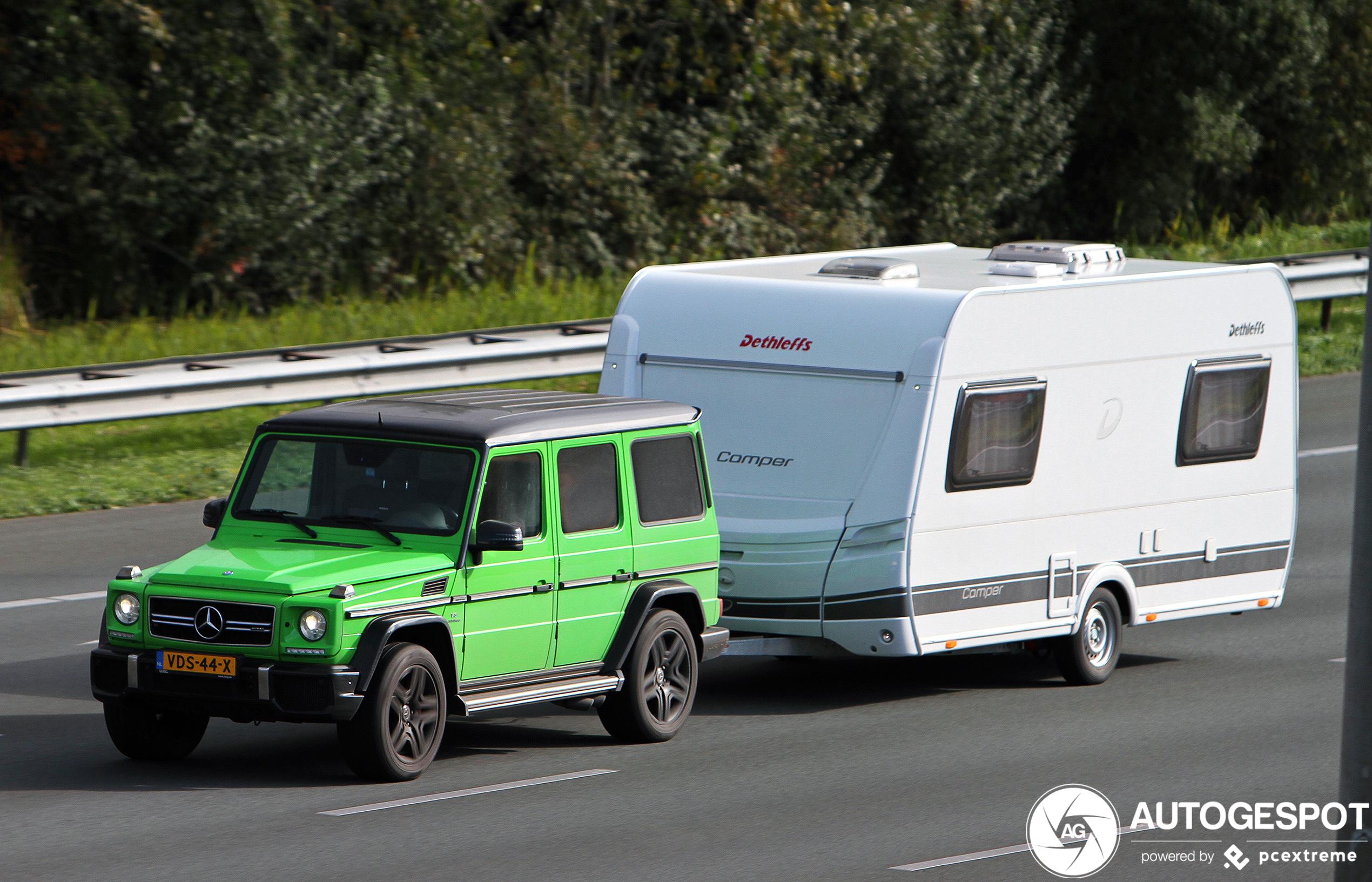 Mercedes-AMG G 63 heeft geen moeite met caravan