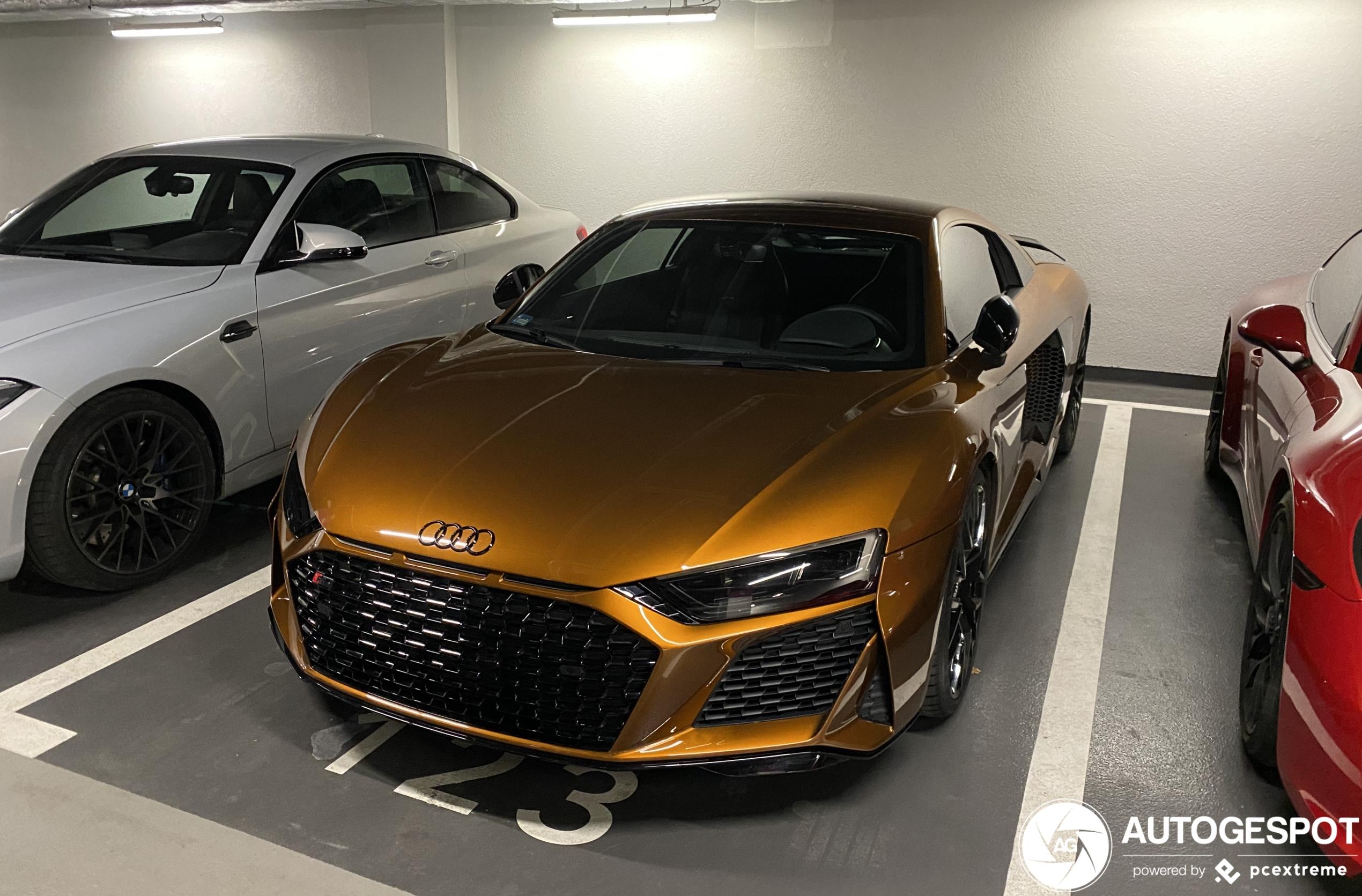 Audi R8 V10 RWD ziet er lekker uit zonder kenteken
