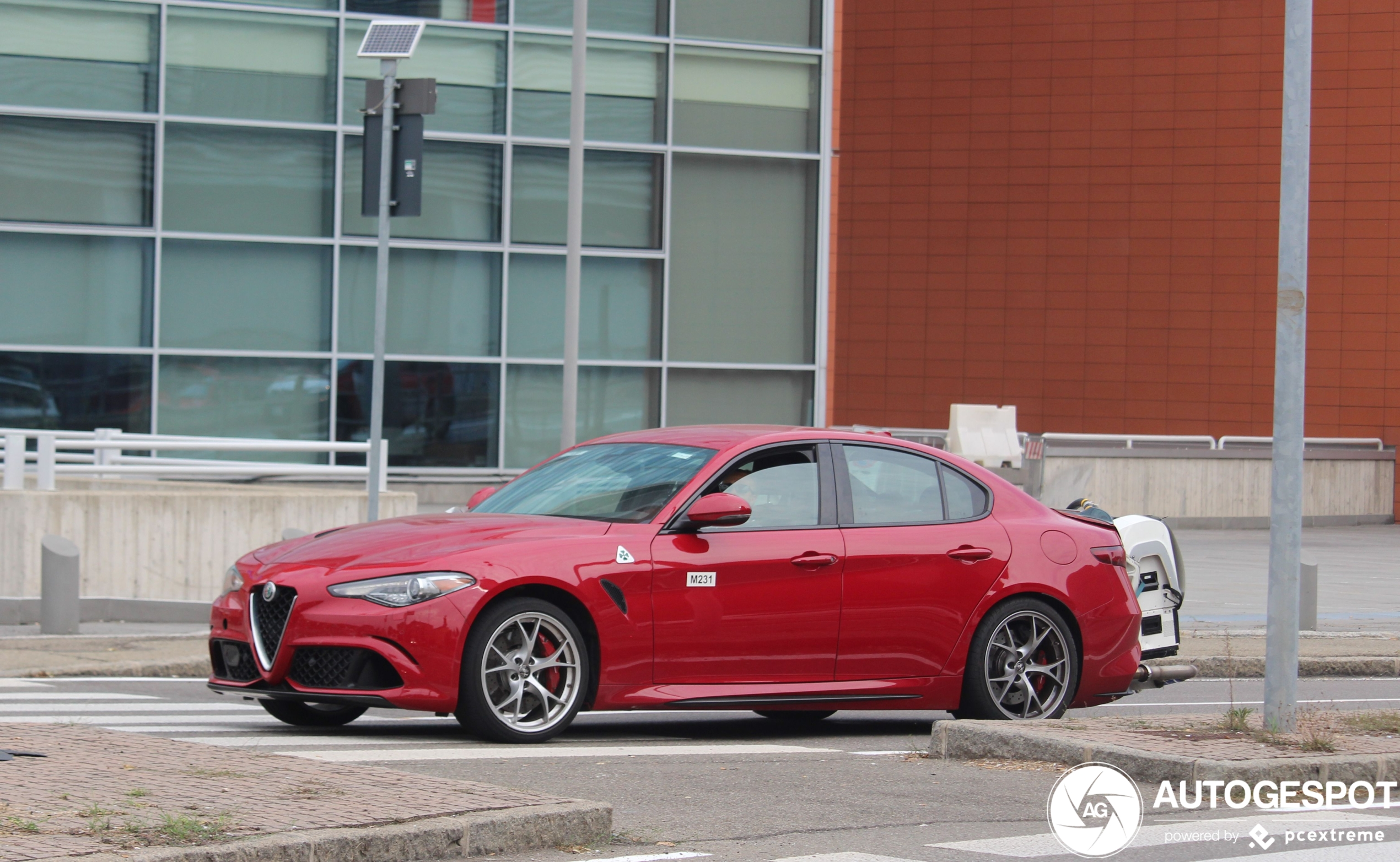 Alfa Romeo Giulia wordt getest op emissies