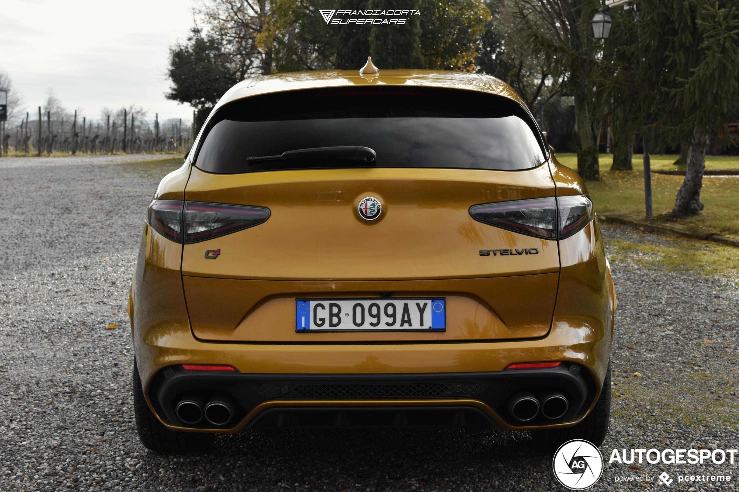 Nieuwe Alfa Romeo Stelvio Quadrifoglio ziet er weer scherp uit