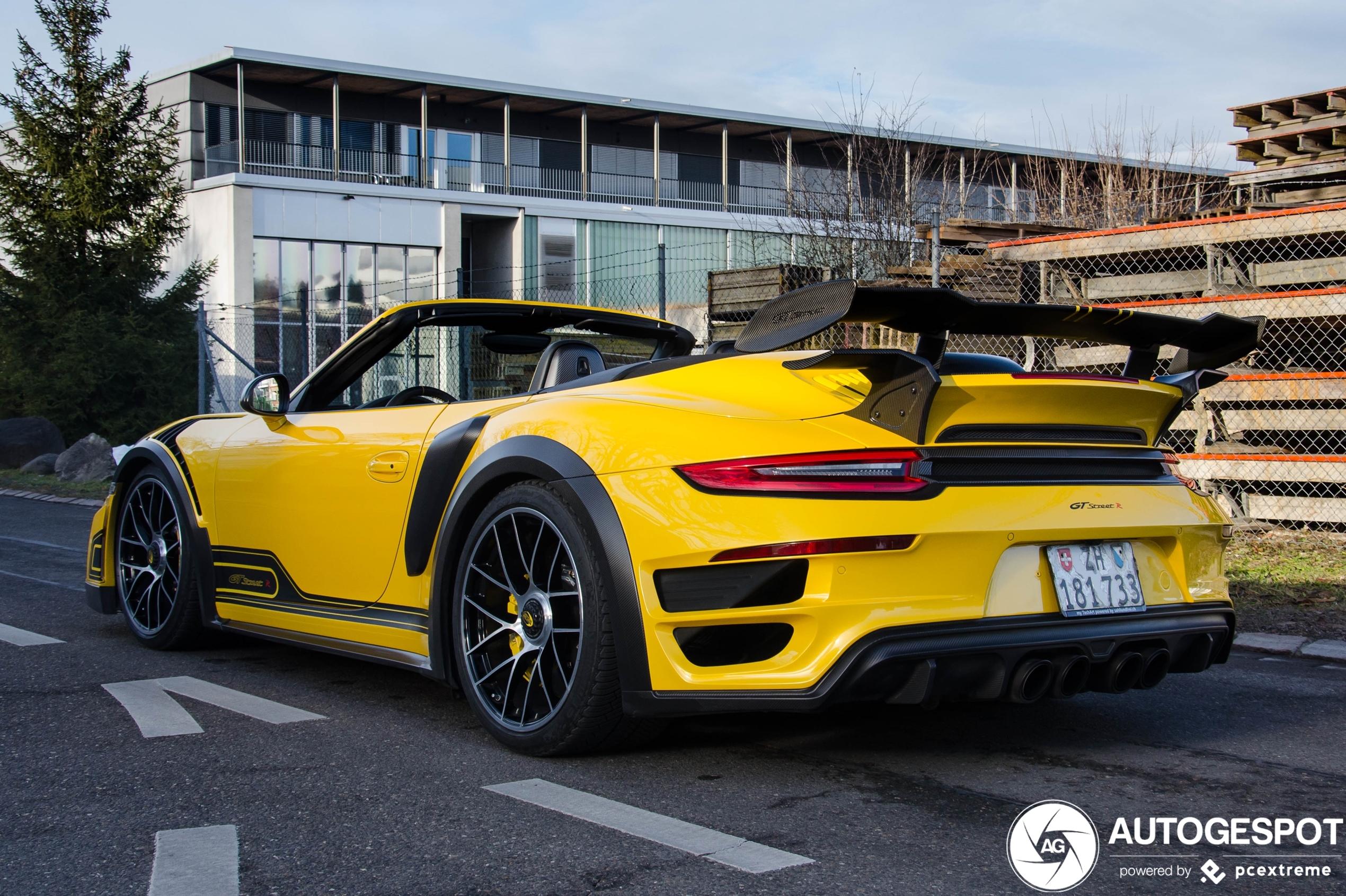 Porsche 991 Techart GT Street R Cabriolet is een monster