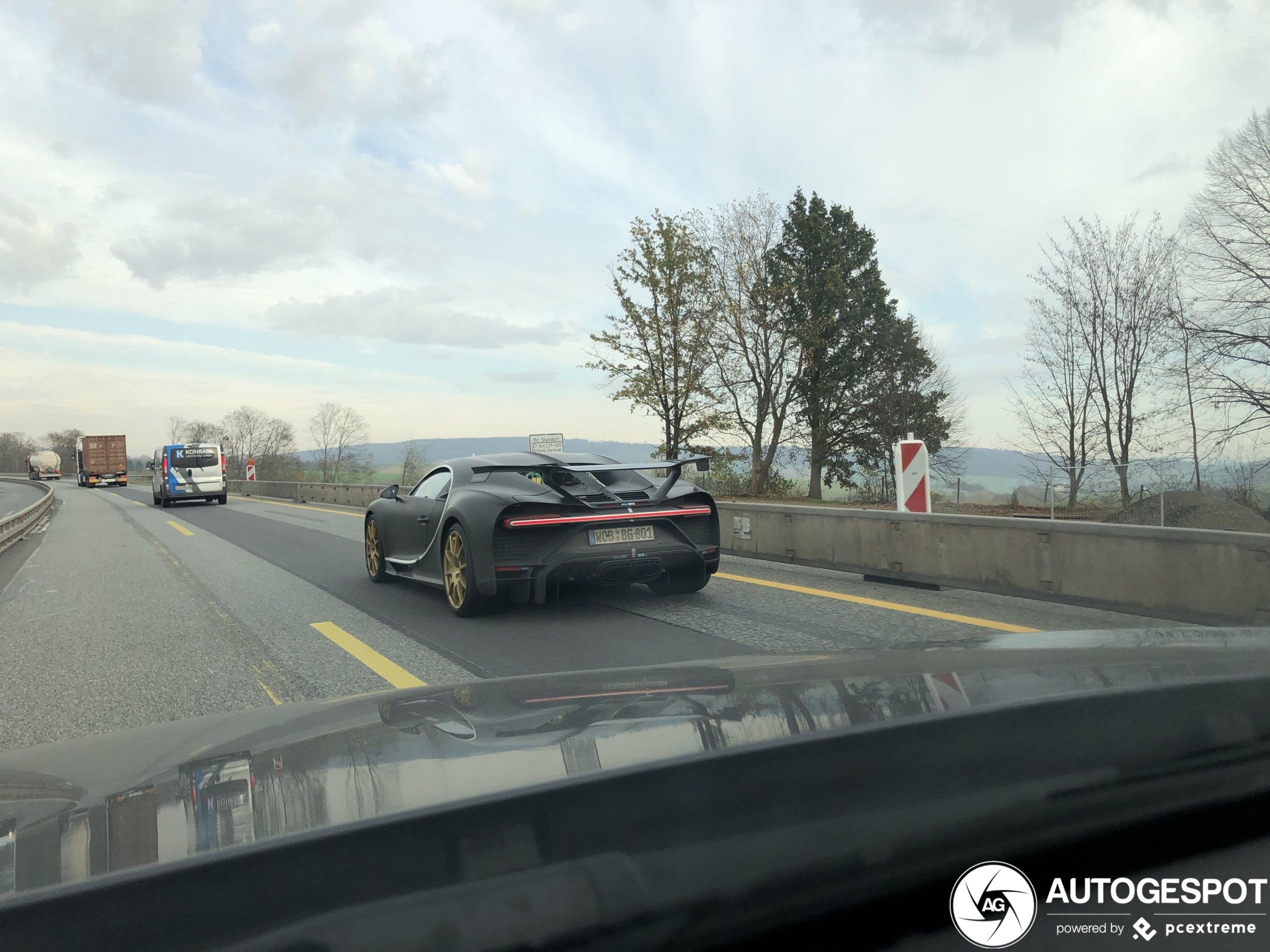 Bugatti Chiron Pur Sport doet het rustig aan op de autobahn