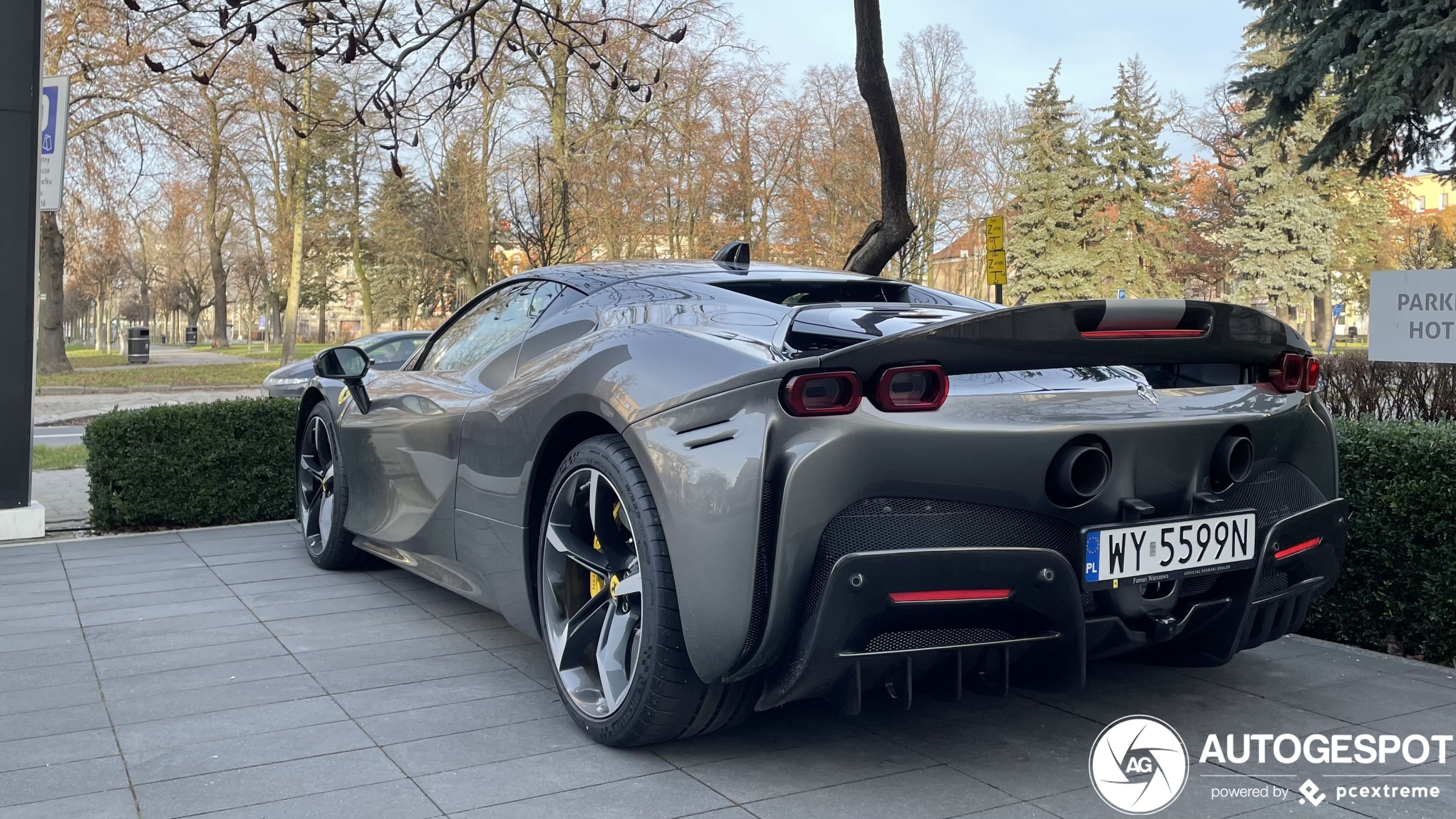 Poland received a Ferrari SF90 Stradale Assetto Fiorano
